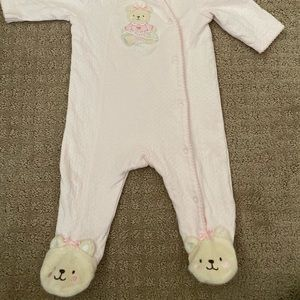 2 little me footies . 3 mo/6 mo